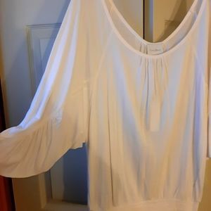 2 for $25 Costa Blanca white flowy top.